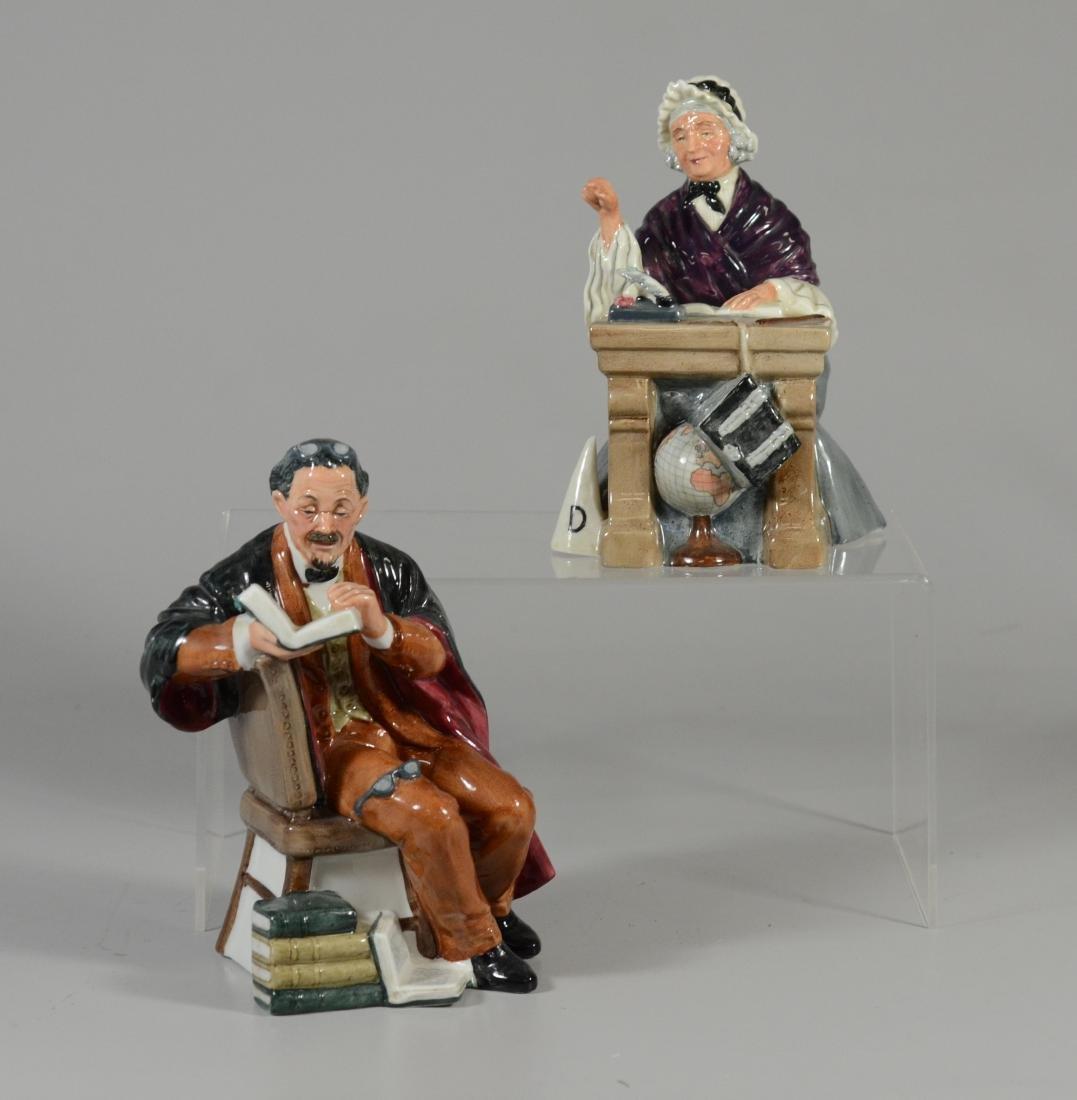 2 Royal Doulton figurines, The Professor, Schoolmarm