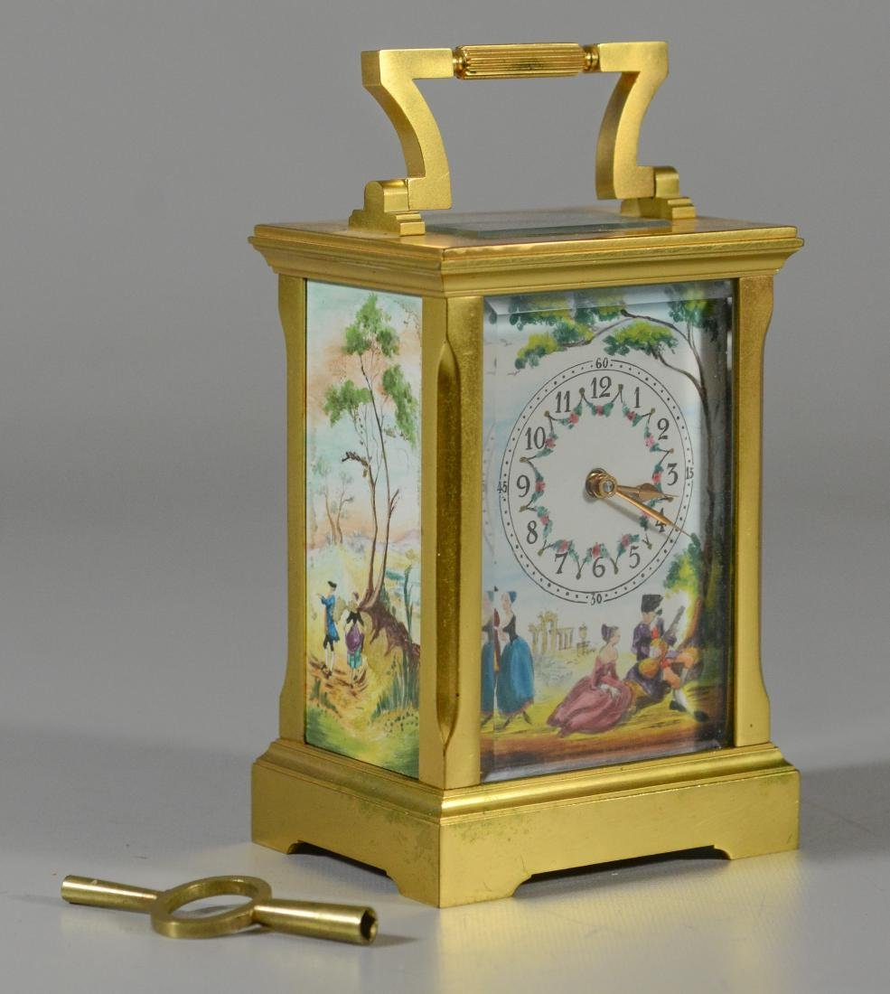 Gilt bronze English carriage clock Deacon & Son - 2
