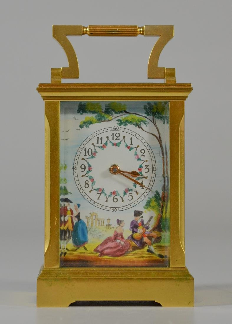 Gilt bronze English carriage clock Deacon & Son - 3