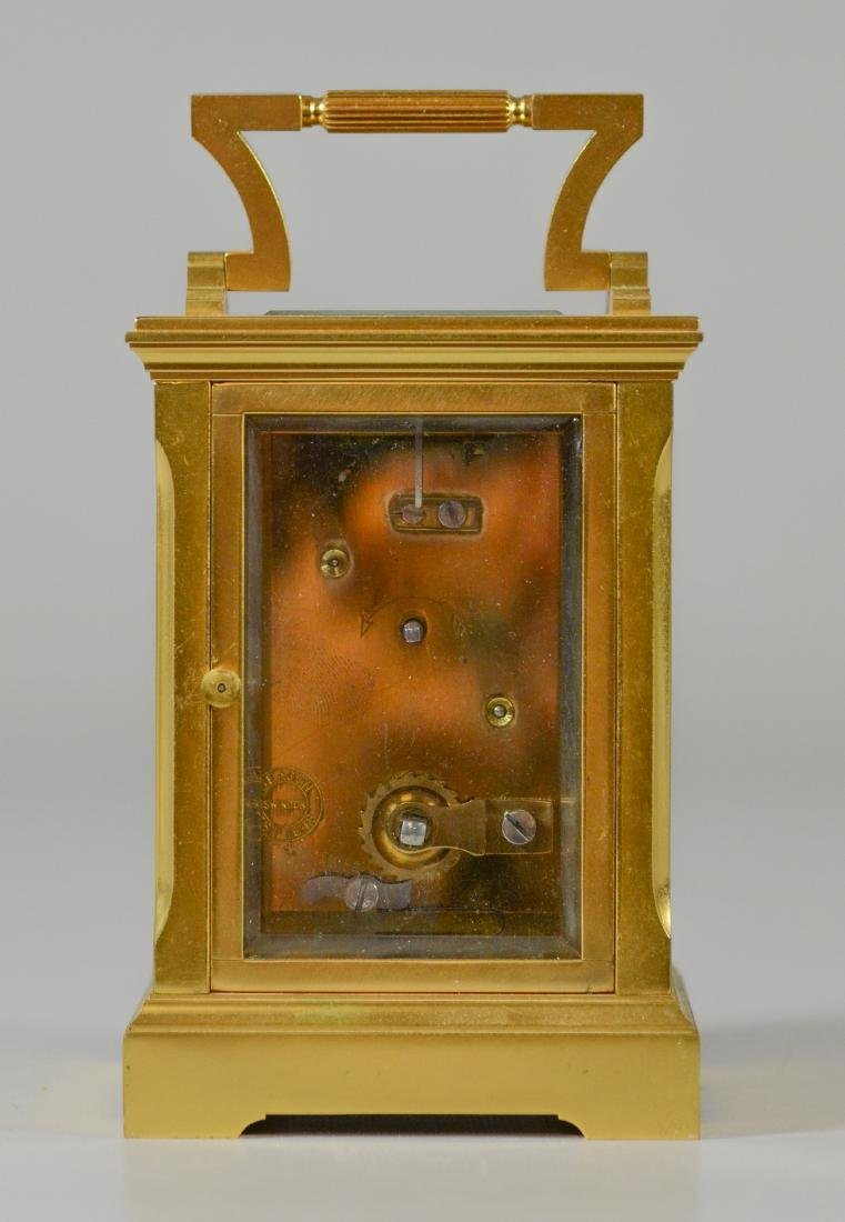 Gilt bronze English carriage clock Deacon & Son - 5