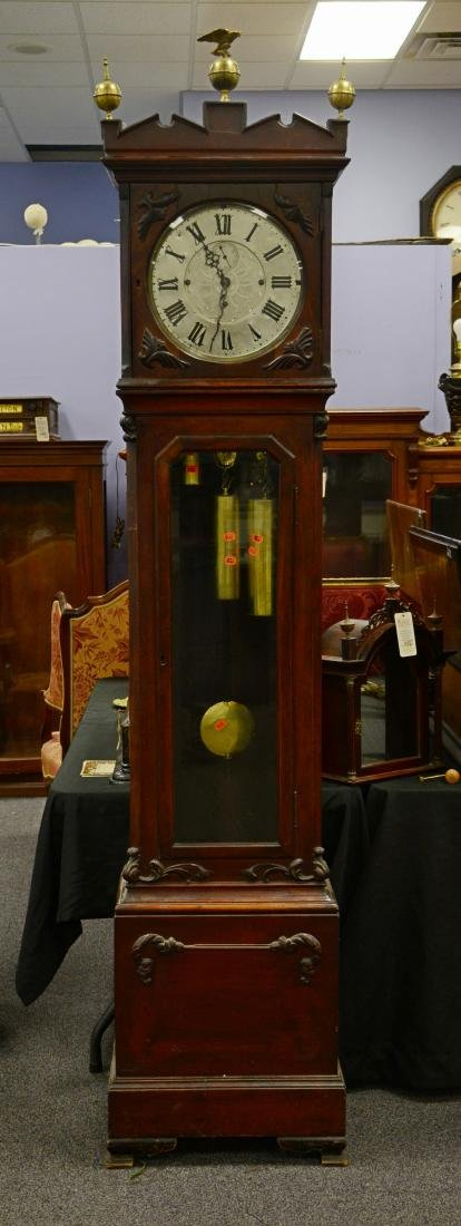 Mahogany Victorian tall case clock