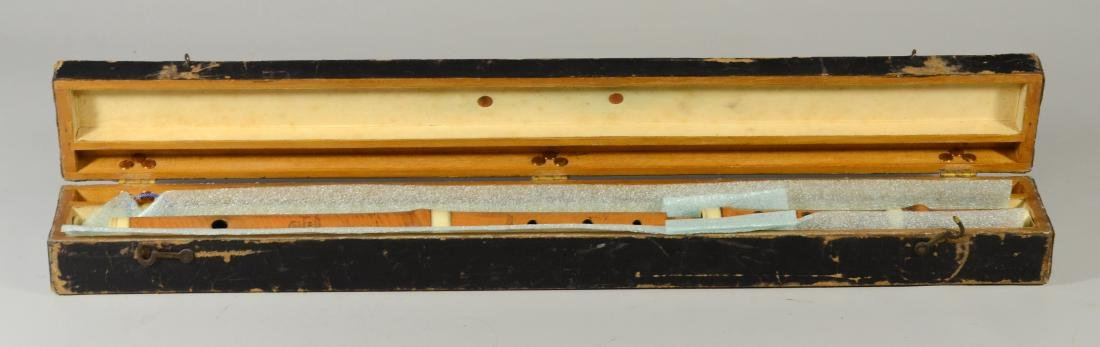 Antique C Gerock wood & celluloid flute