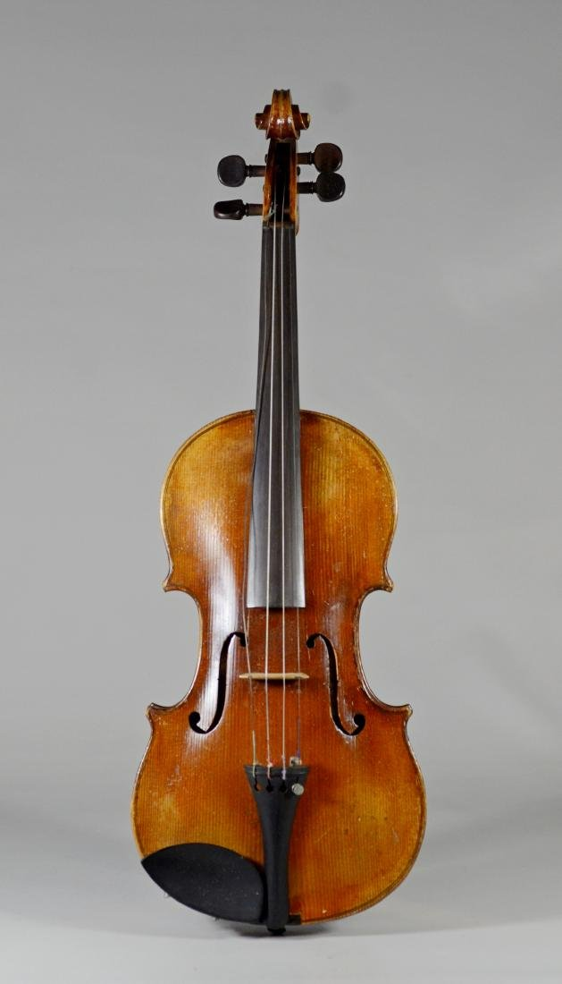 "Antique 4/4 violin, 23-1/4"" long, unlabeled"