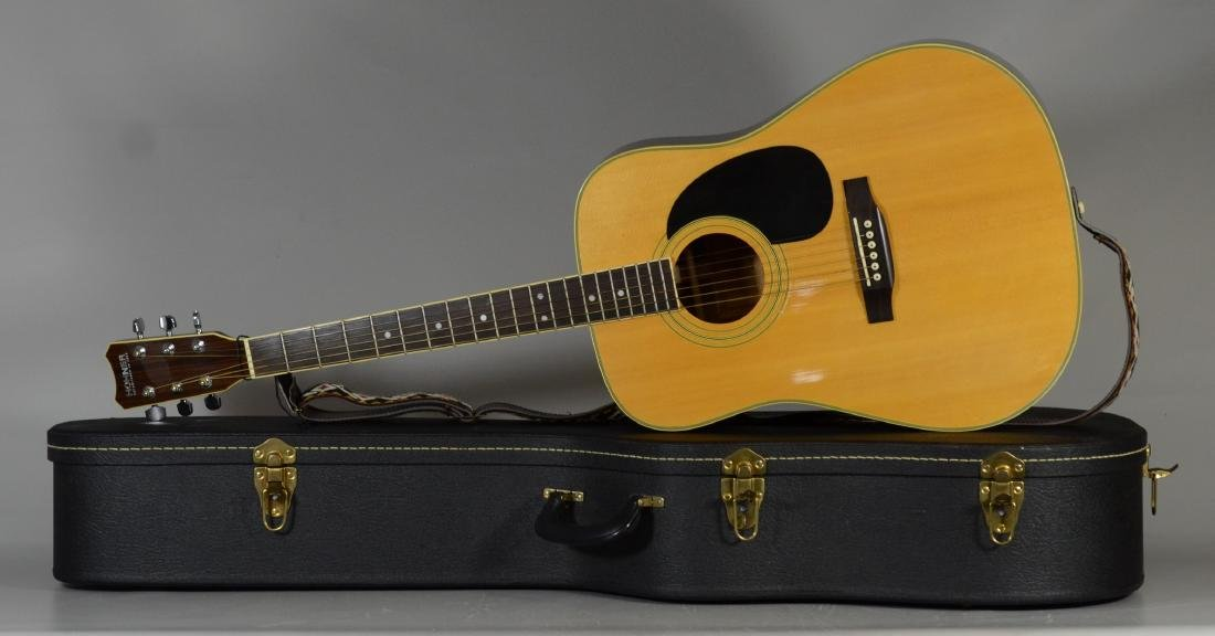Hohner HW720S acoustic guitar, with hardshell case