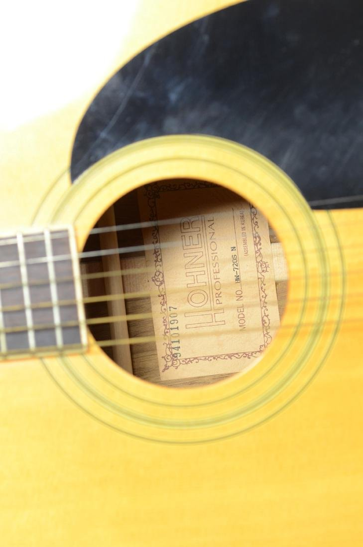 Hohner HW720S acoustic guitar, with hardshell case - 5