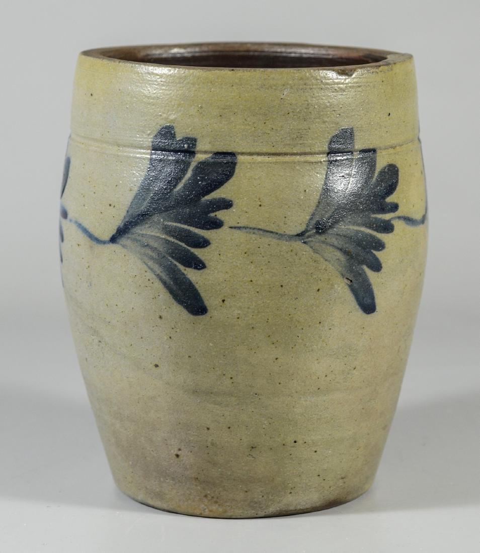 Richard C Remmey blue-decorated stoneware crock