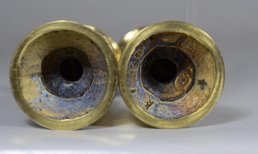 11 Colonial Williamsburg Brass Candlesticks - 7