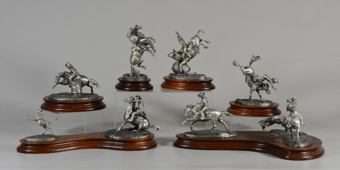6 Chilmark Fine Pewter Limited Edition Cowboy Figurines