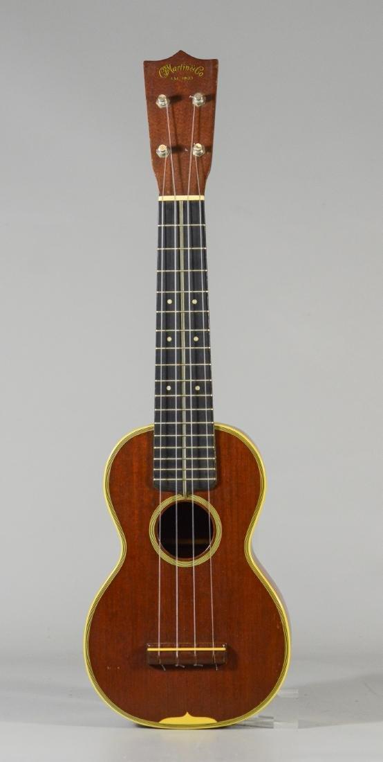 Vintage CF Martin Style 3 Koa ukulele, with case