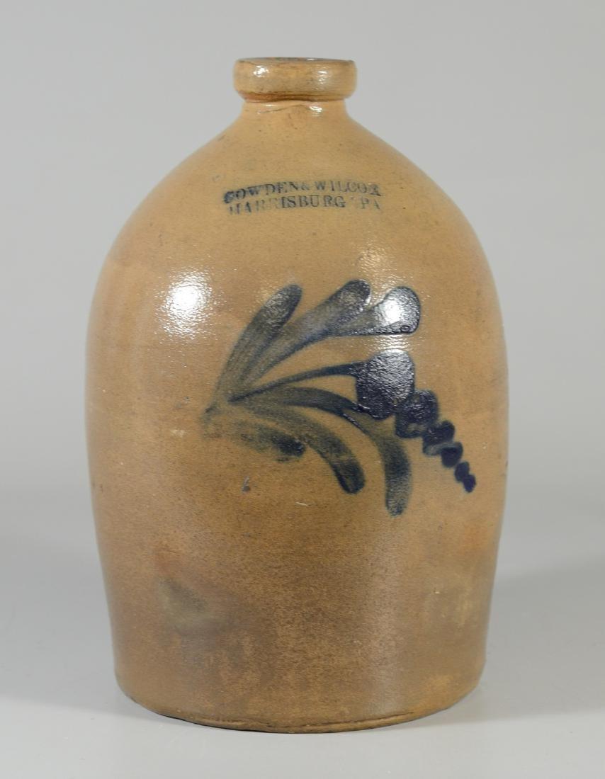 Cowden and Wilcox stoneware jug