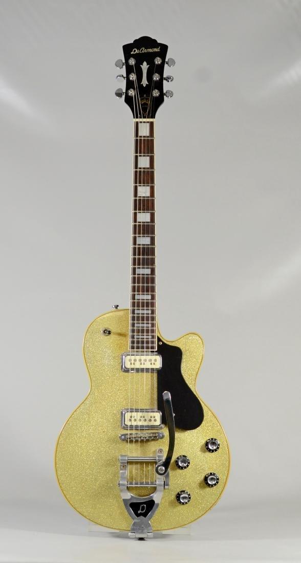 Guild M75/T DeArmand electric guitar, silver sparkle