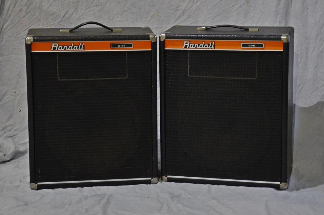 Pr RS115H Randall sealed-back speaker cabinets