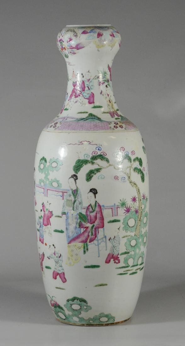Chinese porcelain vase with figures and children