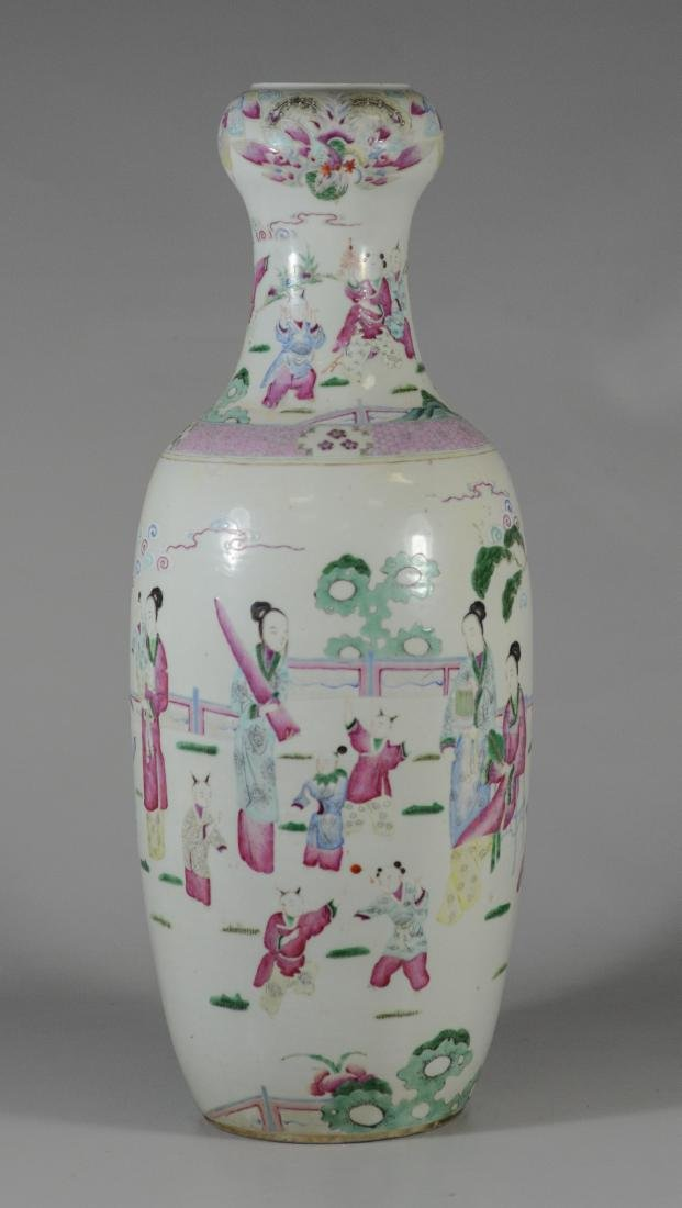 Chinese porcelain vase with figures and children - 2