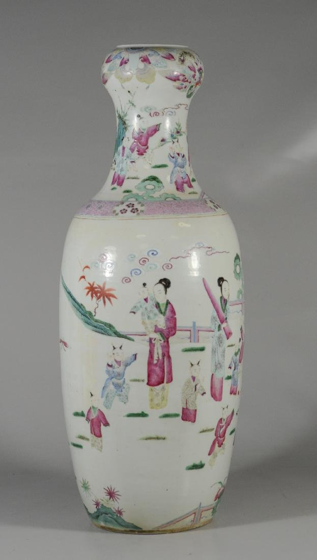 Chinese porcelain vase with figures and children - 4