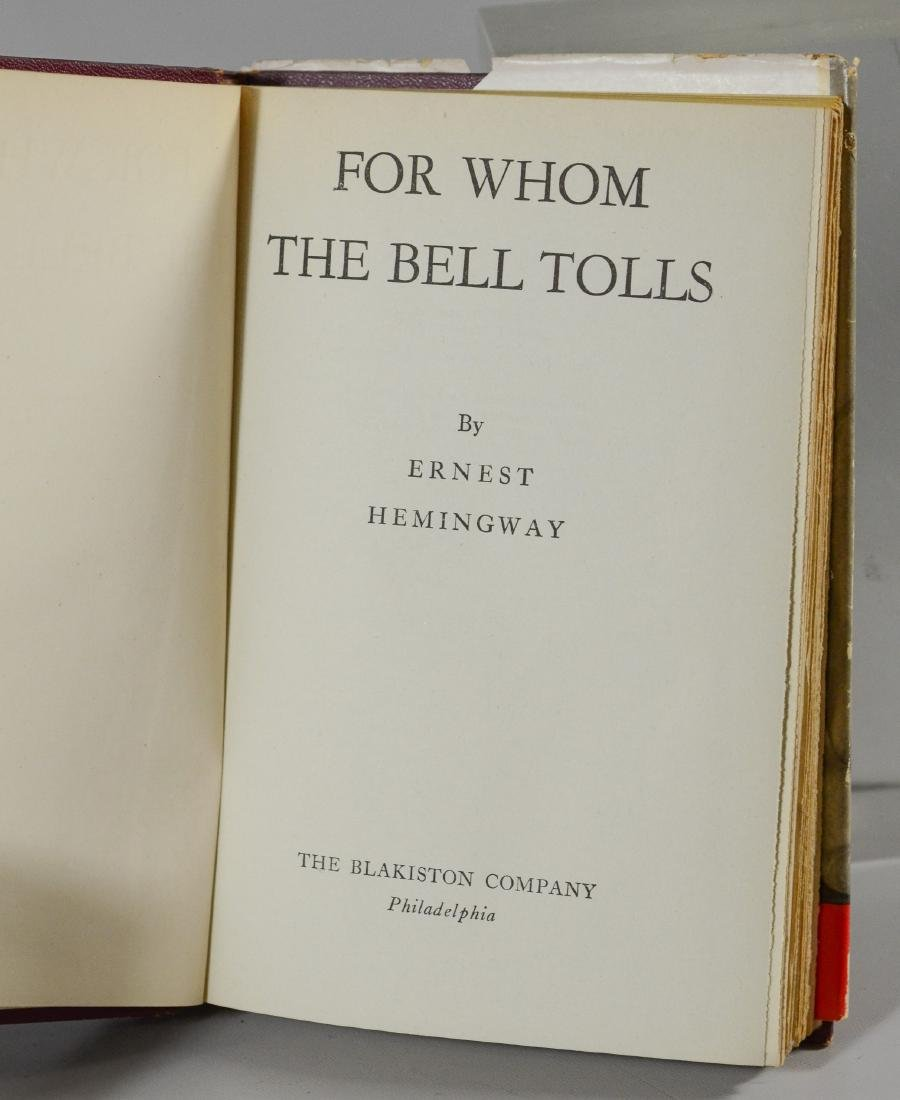 "Ernest Hemingway ""For Whom the Bell Tolls"", BCE/BOMC - 4"