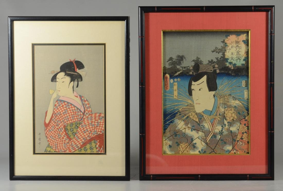 (2) Japanese Woodblock Prints