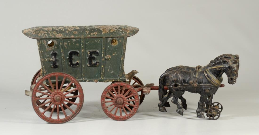 Hubley cast iron horse drawn ice wagon