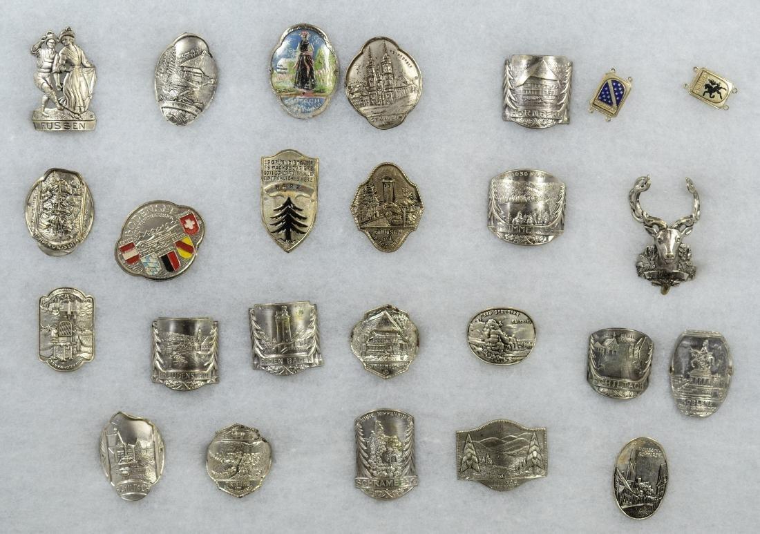 25 German Walking Cane Souvenir Badges