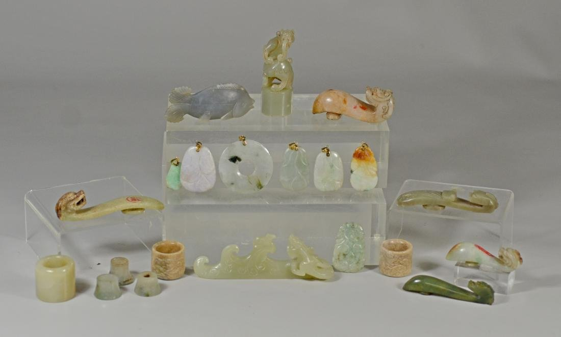 21 Pieces assorted Chinese jade