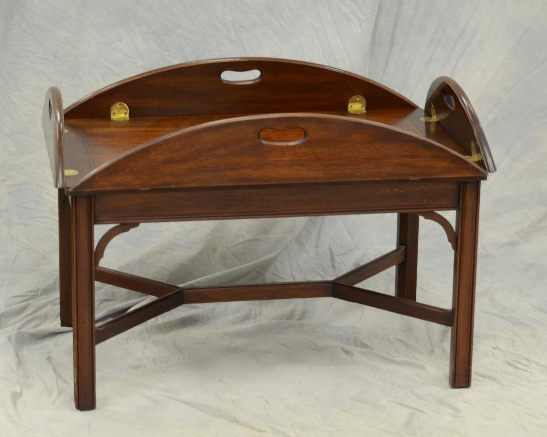 Henkel Harris Chippendale Style butler's coffee table