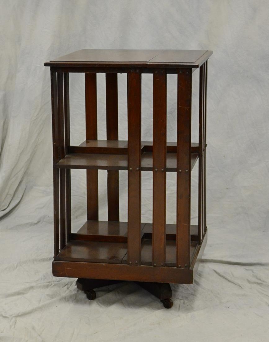 Victorian 2-tier Mahogany revolving bookcase, mahoga