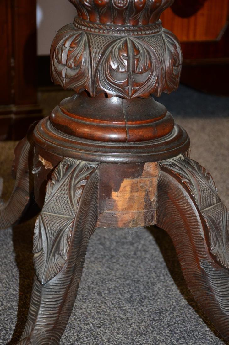 Federal mahogany game table, Amariah Prouty, c 1830 - 5