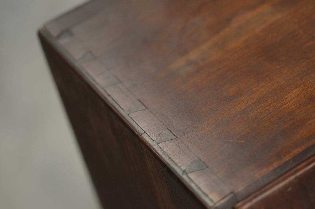 Georgian style drop front desk, block feet, brass ha - 3