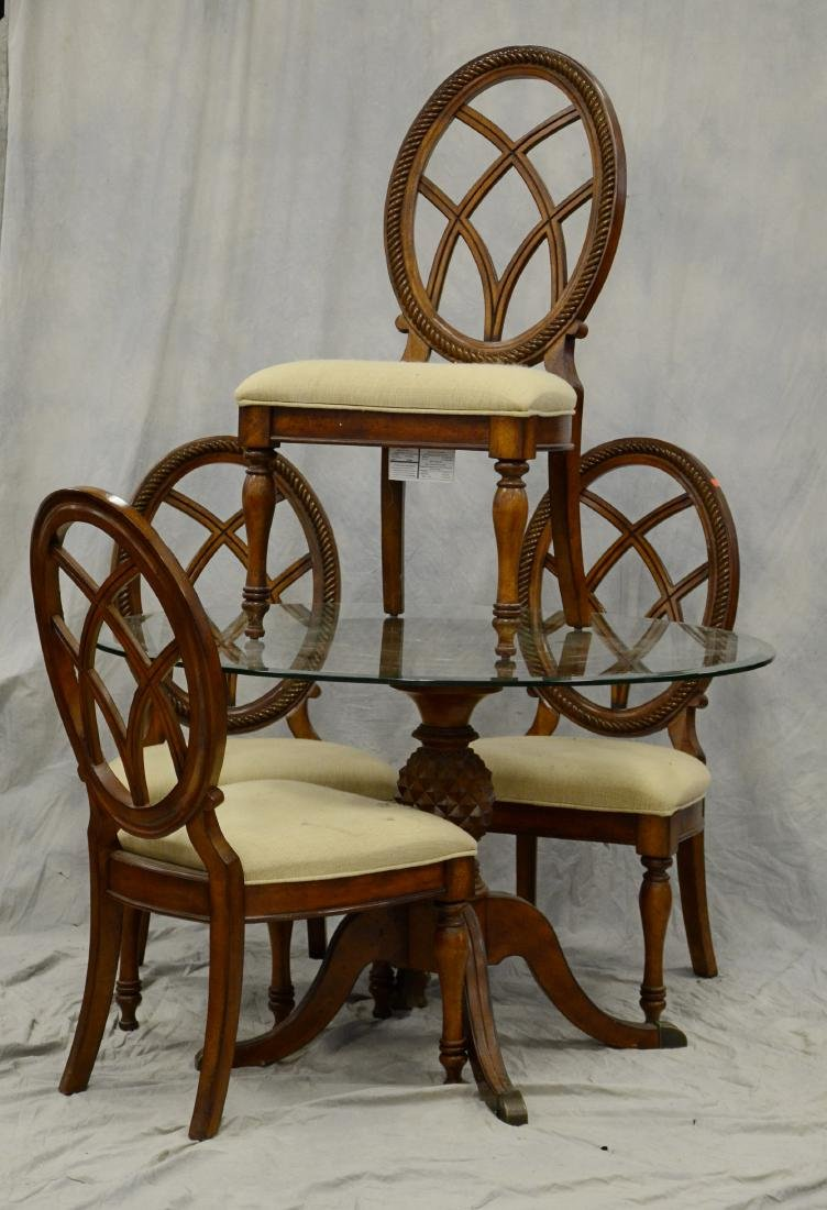 (5) pc Contemporary carved dining set, set includes