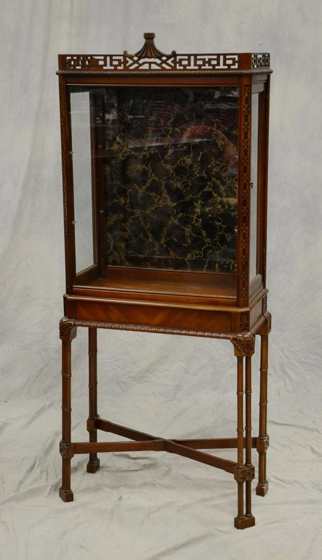 Chippendale Style mahogany display cabinet, faux bam
