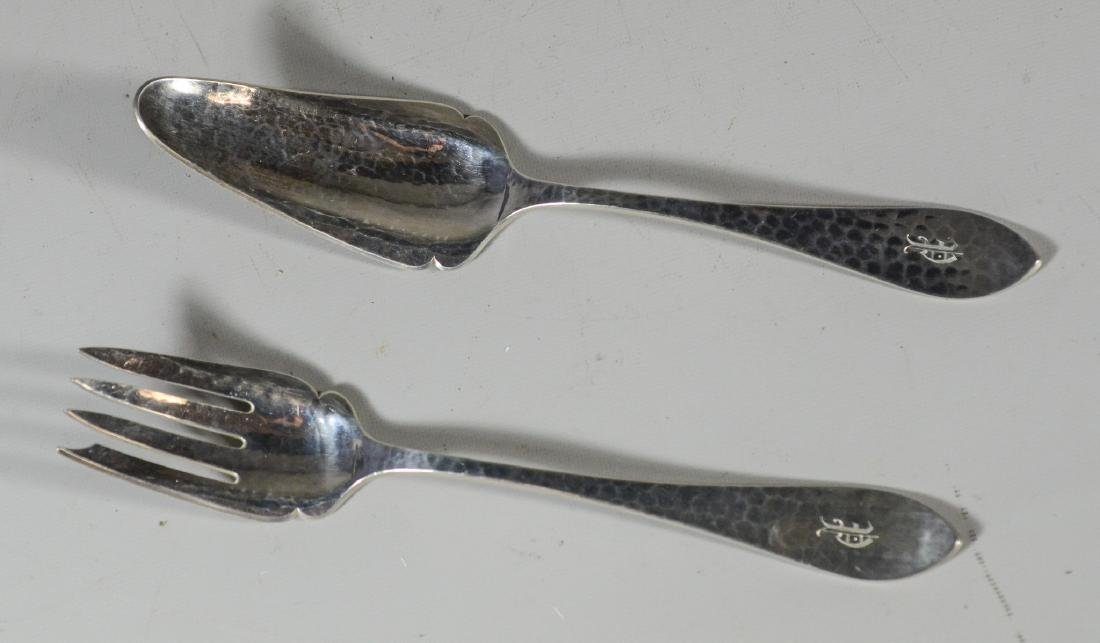Kalo Hand Hammered Sterling Silver Fish or Chop Set