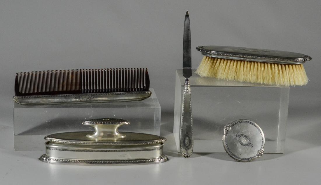 5 pc R Blackinton sterling silver dresser set