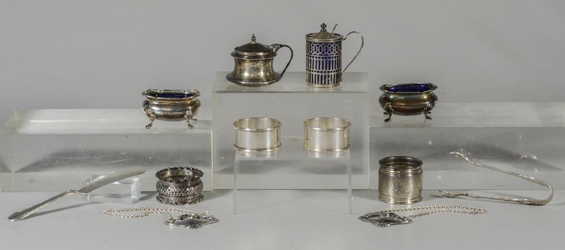 (9) Pcs sterling silver tableware