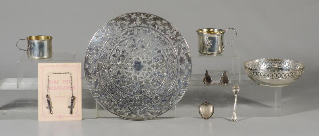 7 Pcs sterling silver tableware