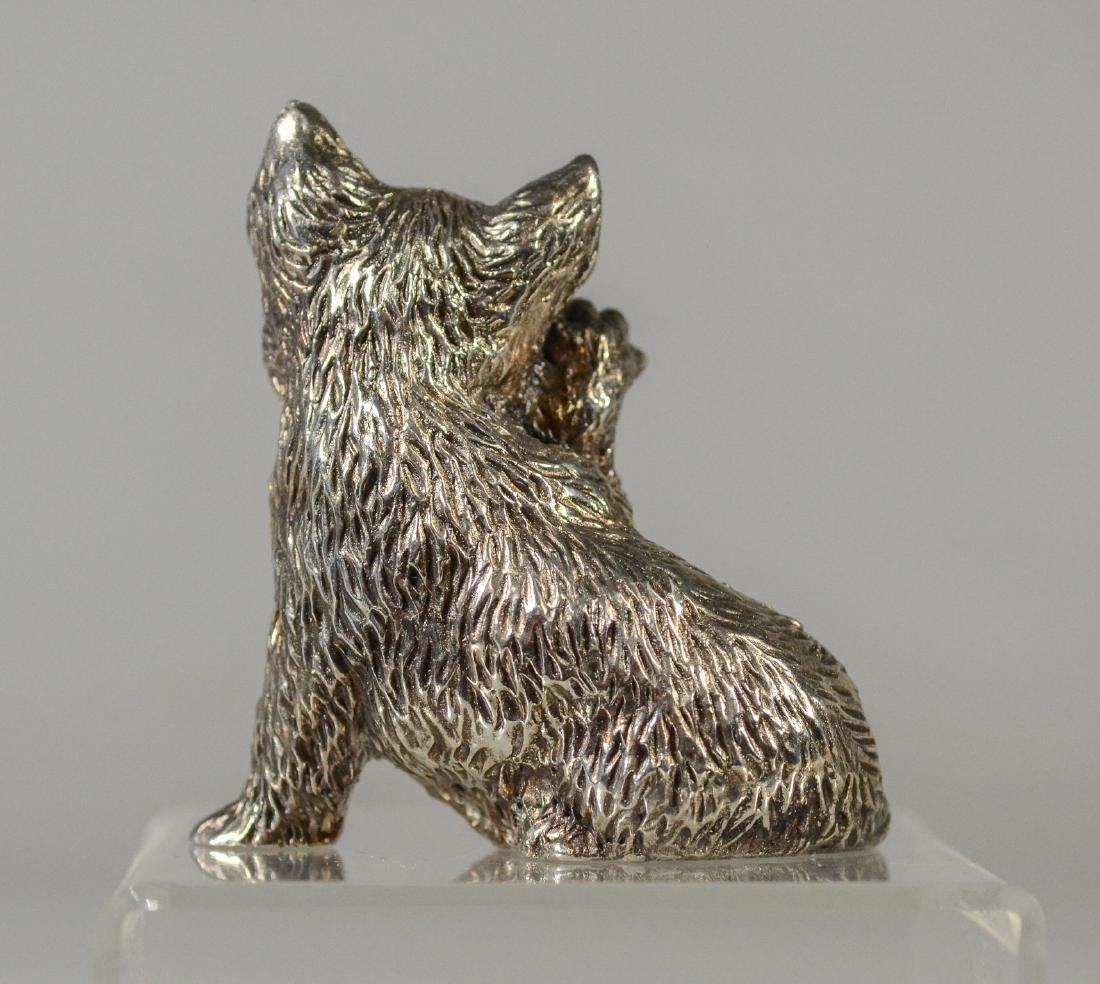 925 silver overlay cat figurine - 2