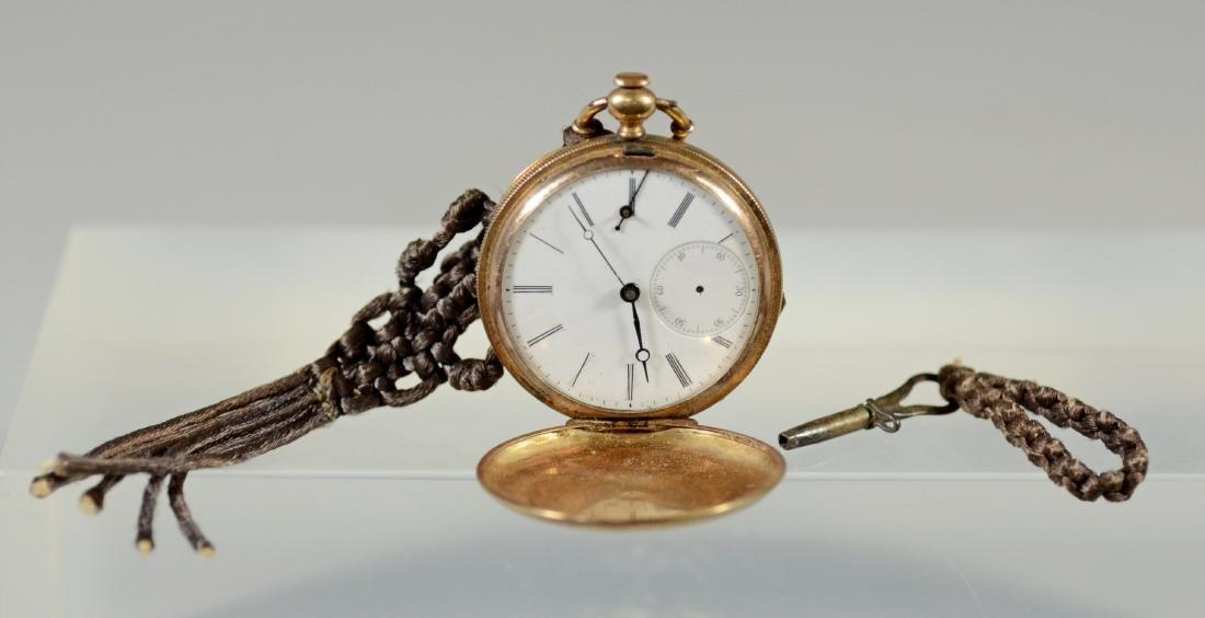 Swiss unm YG hunt case pocket watch, KW&S