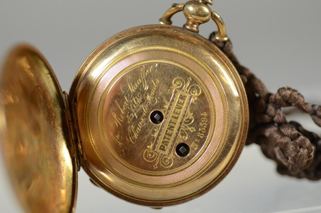 Swiss unm YG hunt case pocket watch, KW&S - 6