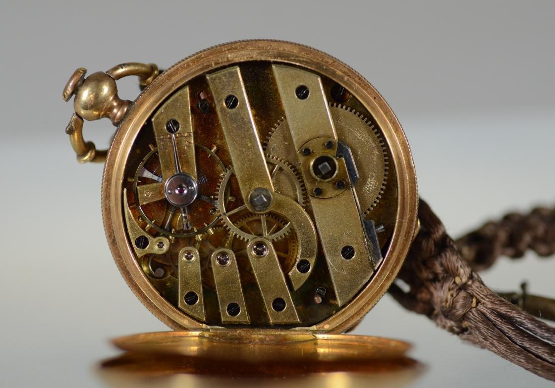 Swiss unm YG hunt case pocket watch, KW&S - 7