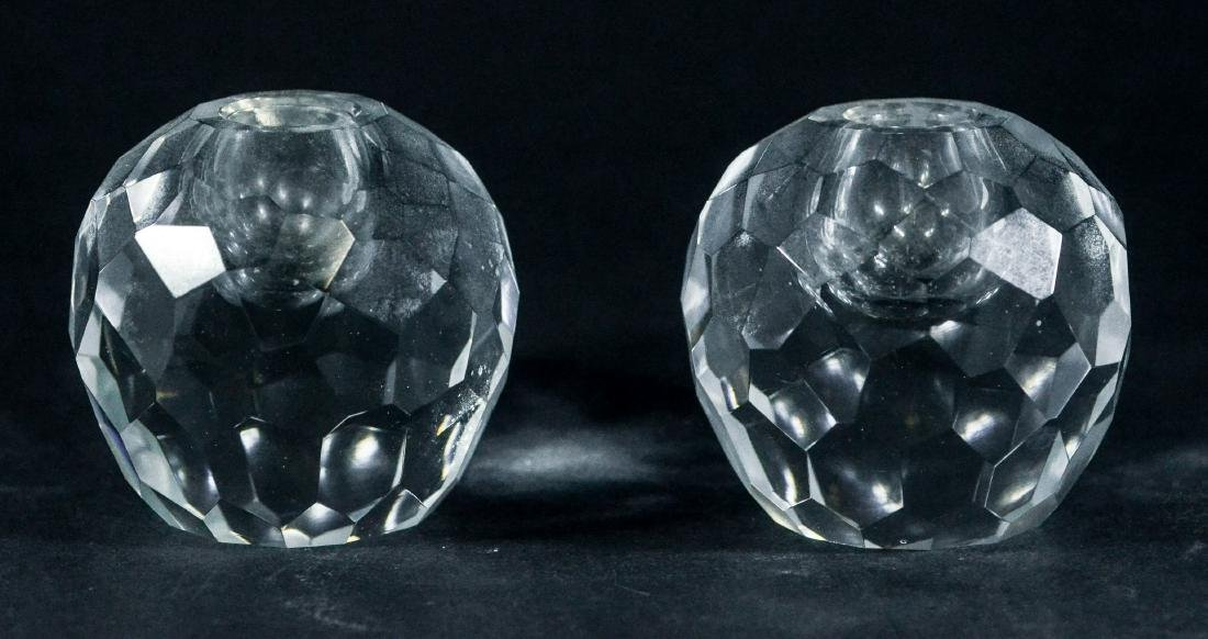 PR of Tiffany & Co faceted crystal candle holders