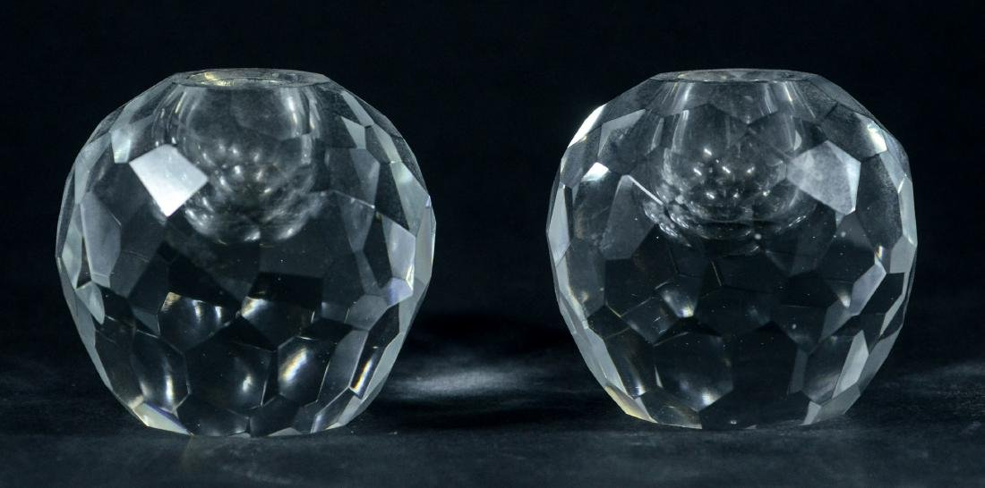 PR of Tiffany & Co faceted crystal candle holders - 2