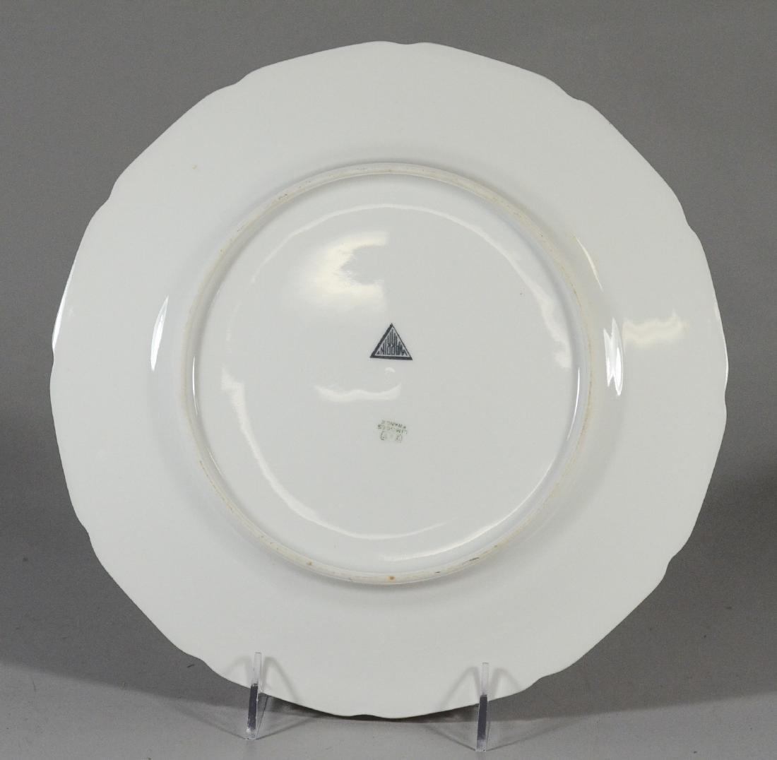 12 T&V Limoges Warrin gold trim dinner plates - 2