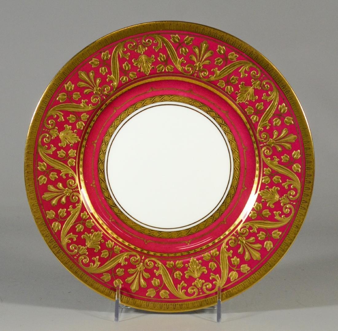 12 Mintons porcelain dinner plates, Pattern AS H4608 - 5
