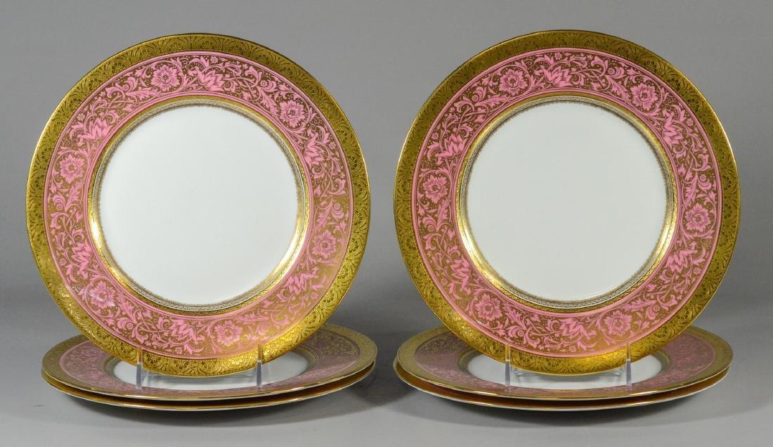 6 Mintons Porcelain Ball pattern service plates