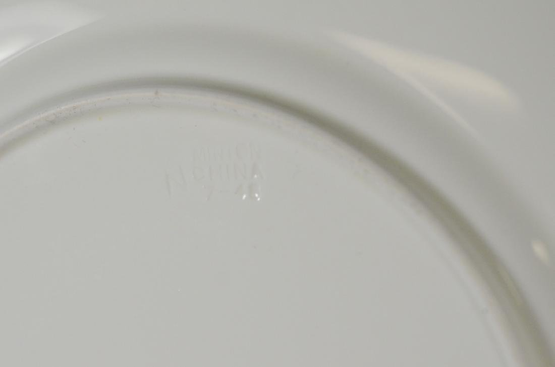6 Mintons Porcelain Ball pattern service plates - 3