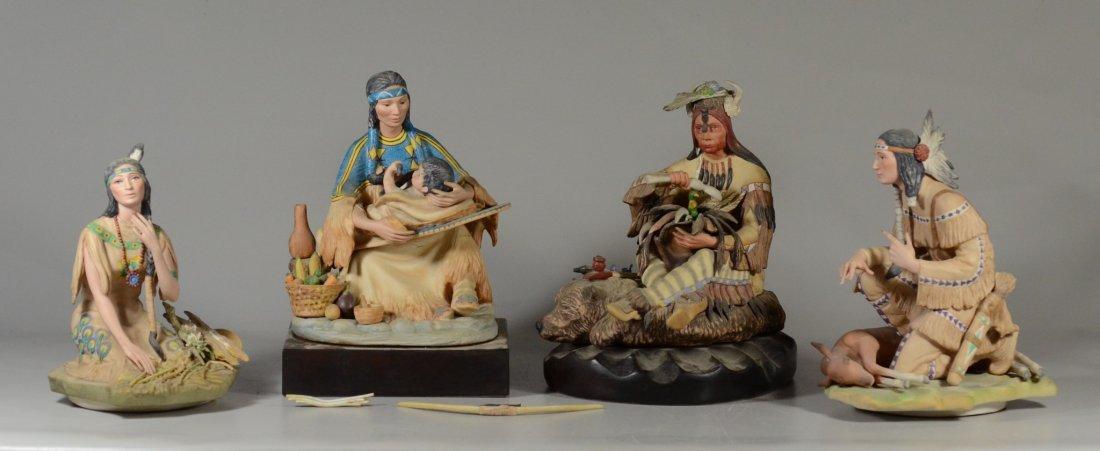 4 Cybis Native American Figurines