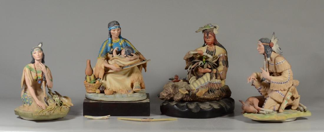 4 Cybis Native American Figurines - 2
