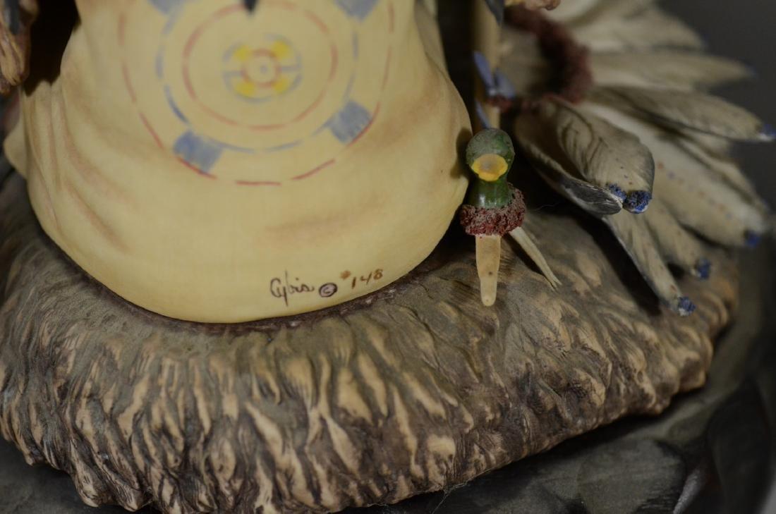 4 Cybis Native American Figurines - 8