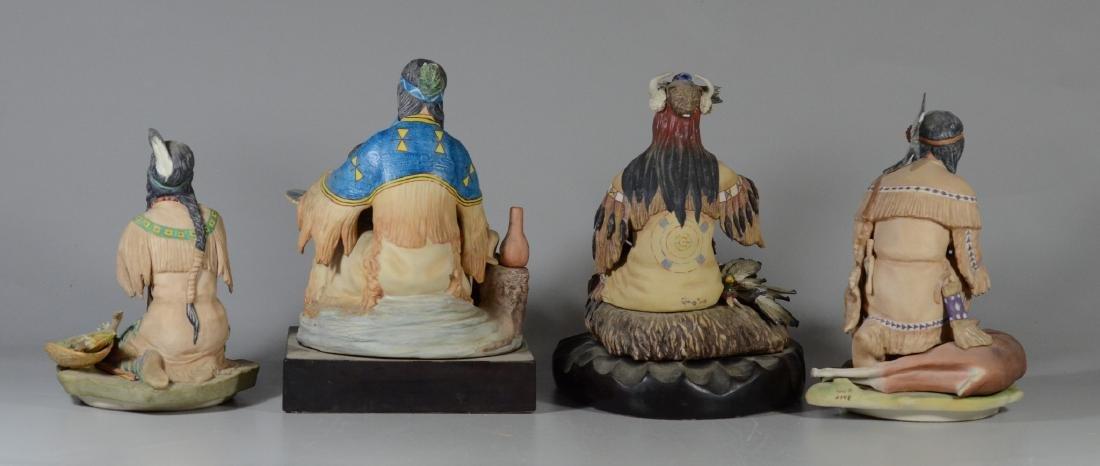 4 Cybis Native American Figurines - 9