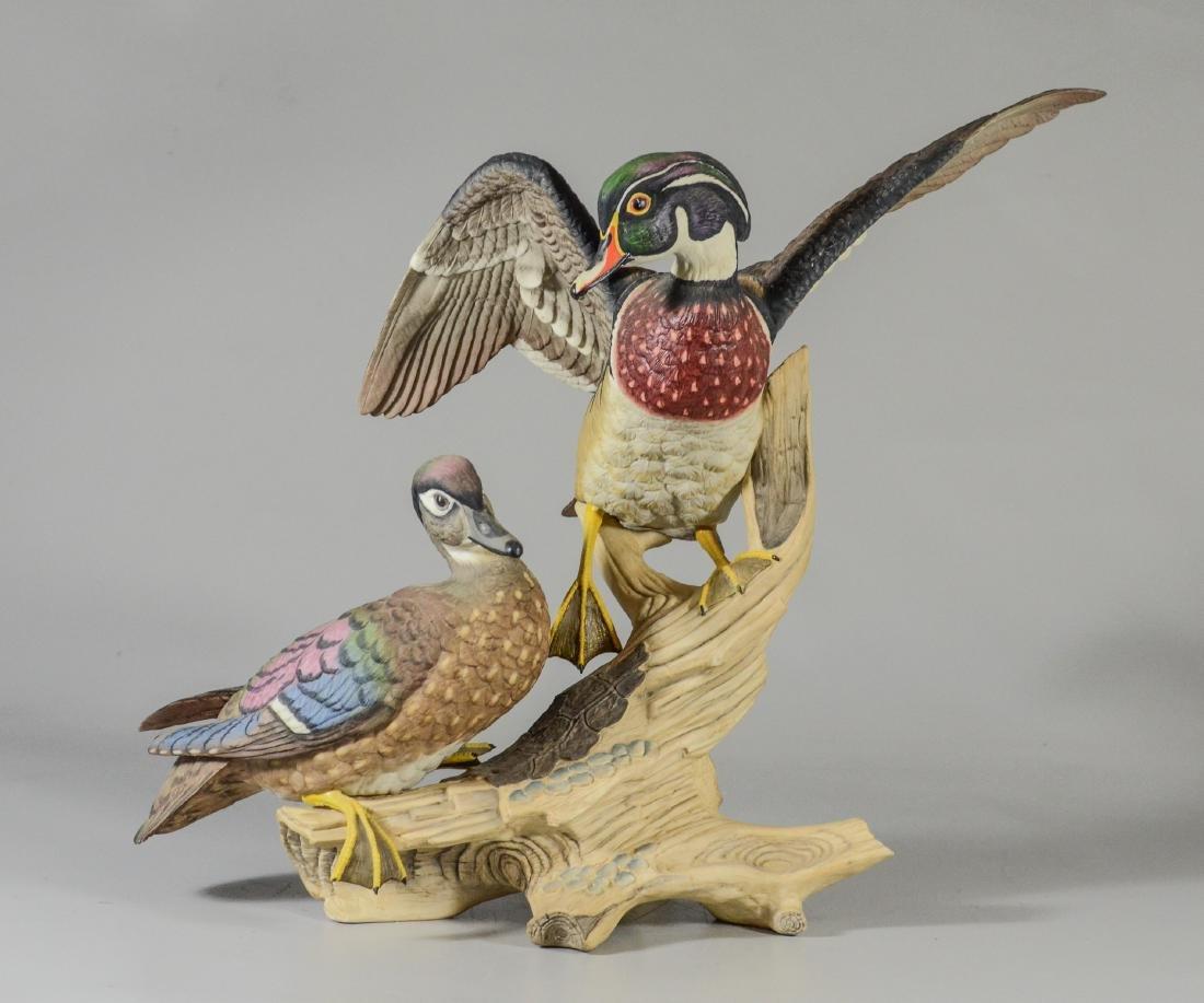 Boehm porcelain Wood Ducks bird figurine