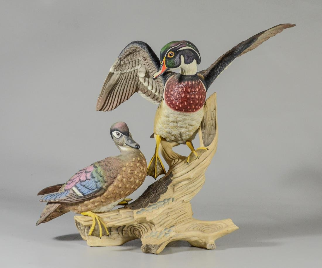 Boehm porcelain Wood Ducks bird figurine